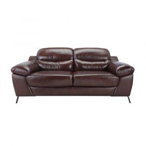 FRONTIERA Sofa Da 3 Chỗ 231x101x85 cm Màu Nâu