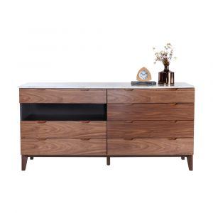 SAVIA Double Chest+Marble top160CM WN/WT