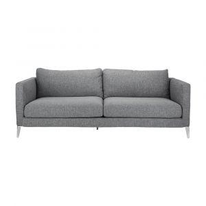 MIRRINO Sofa Vải 3 Chỗ 210x92x80 cm Màu Xám Đậm