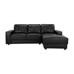 Sofa Góc L/Trái RALPH Màu Đen