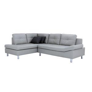 OVIRA -P PVC L-Shape Sofa/R GY