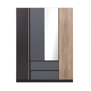 HARSH -P Wardrobe 4doors BKBN/CMO
