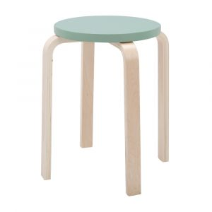 H-BELLA/P Bentwood round stool NT/GN