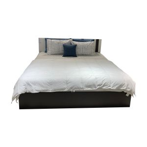 PIANO -P Wood Bed 6ft. BKBN/WT
