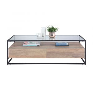 GRUFF -P Coffee table 120cm CMO/BK