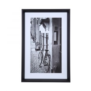 BICYCLE Picture+frame 40*60*3.5 cms BK