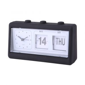 CALENDY PLUS Table clock 7.5'' BK