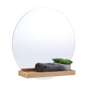 ELME Gương Treo Tường 13x50x50 cm Màu Gỗ Tự Nhiên