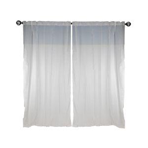 PIXEL Sheer curtain2pcs/set 145x250cm.WT