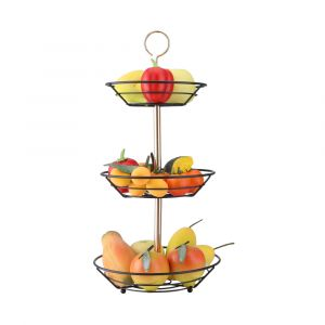 FRITZI 3-Tier fruit basket 29x29x54.5 BK