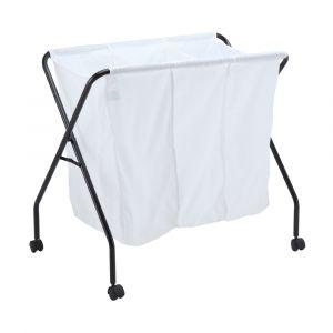 SELBY Laundry basket + 4 wheels BK