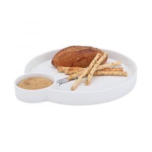 CYNDY Đĩa Snack 31.5x27.5x3.5 cm Màu Gỗ Tự Nhiên