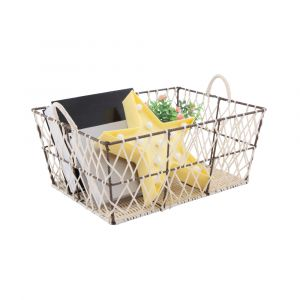 BODEN Basket 42x32x18 CR/BN