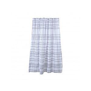 ALINE Shower Curtain 180x180 cm. WT/BK