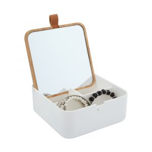 ZURIE Jewelry box w/mirror M WT/NT