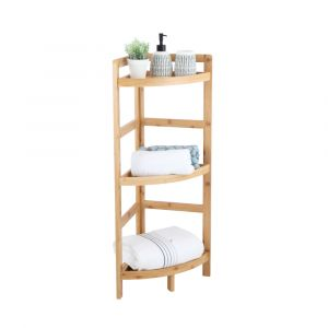 ELVIDA 3-Tier Corner shelf 29x29x85 NT