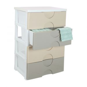 TAMMY Drawer 4 tiers BN/CR