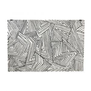 SHAPETO Area rug 120x180cm BK/WT