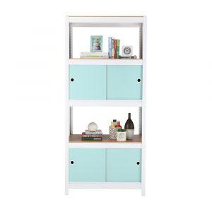 EZYShelfPlus 5Tier Shelf+cabinets WT/LBL