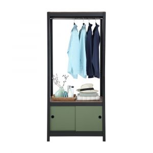 EZYShelfPlus Cloth shelf+cabinet BK/DGN