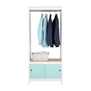EZYShelfPlus Cloth shelf+cabinet WT/LBL