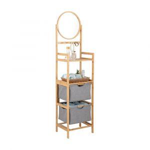 ELVIDA Bath shelf w/mirror H166cm NT