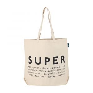 SAVER-SUPER Shopping bag 46x42cm BE/BK
