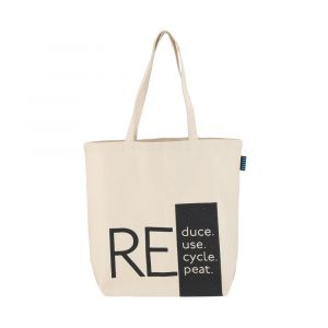 SAVER-REDUCE Shopping bag 46x42cm BE/BK