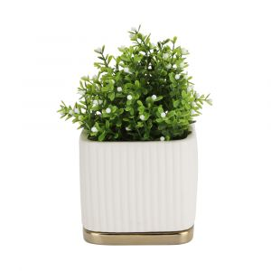 HANA Plant pot 13x13x11 WT/GD