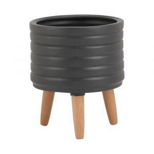 DEARO Stoneware plant pot w/stand DGY