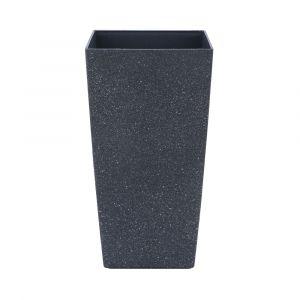 SANTOSA Plastic plant pot 30x30x56cm BK