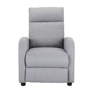 FLINT Fabric push back recliner 1/S GY