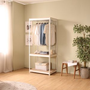 SMART SHELF Wardrobe frame 1bar WT