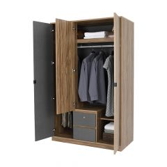 CO-SPENCER Wardrobe 3dr. TBN/TGY