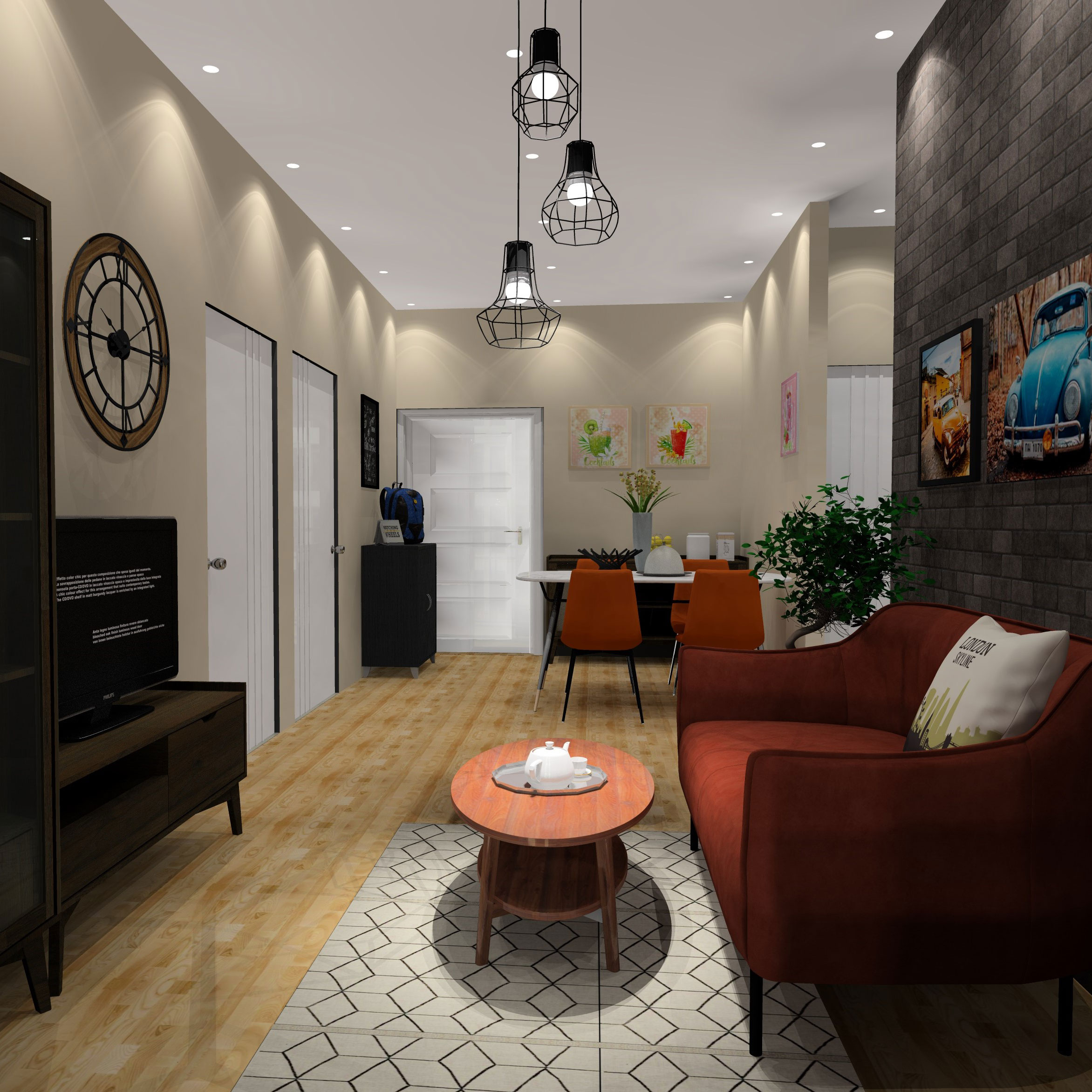 Căn Hộ 2 Phòng Ngủ - Bộ sưu tập Harsh Phong cách Hiện đại