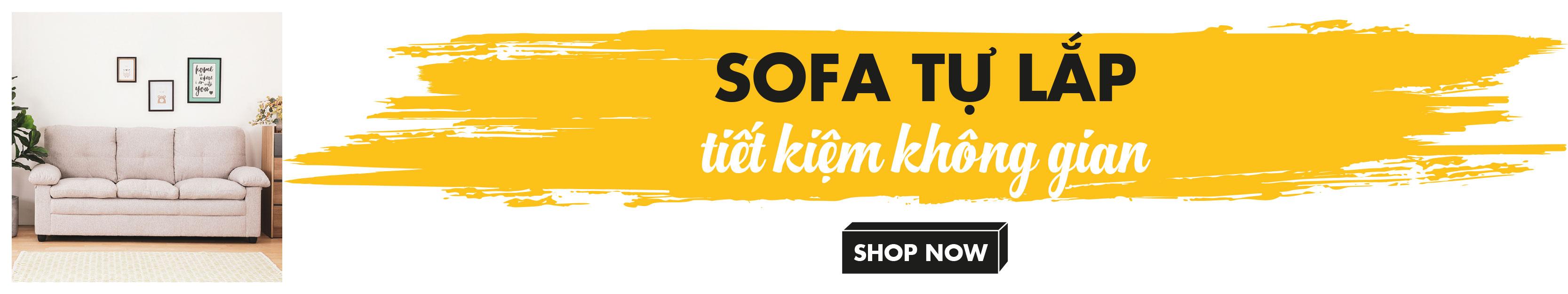 Sofa tự lắp - Tiết kiệm không gian